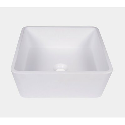 Resin Glass Square Vessel Bathroom Sink with Overflow JGV3001