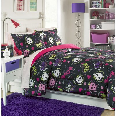 Skulls II 3 Piece Comforter Set Size: Twin