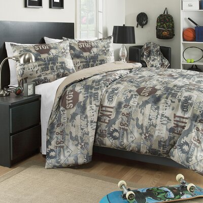 Boot Camp 3 Piece Comforter Set Size: Twin