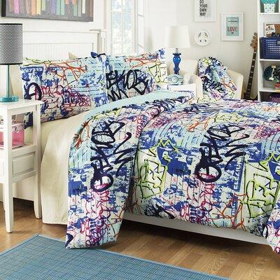 Graffiti 3 Piece Comforter Set Size: Twin