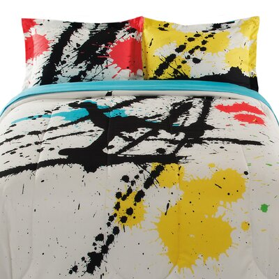Splat 3 Piece Comforter Set Size: Twin