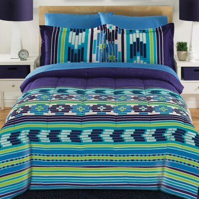 Ishtar 3 Piece Comforter Set Size: Twin