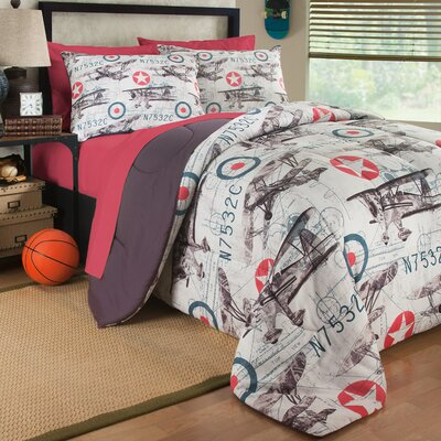 Flyboy 3 Piece Comforter Set Size: Twin
