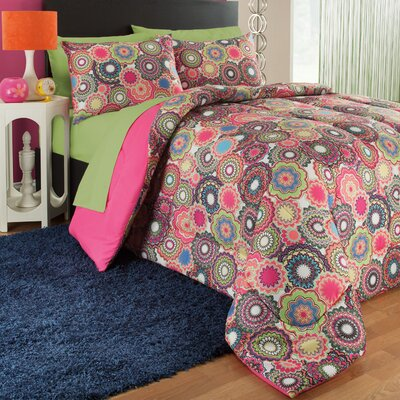 Kaleidescope 3 Piece Comforter Set Size: Full