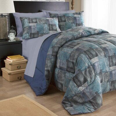 Uber Denim 3 Piece Comforter Set Size: Twin