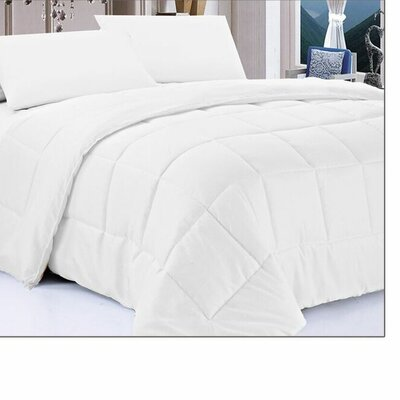 Mystique Down Alternative Comforter Size: Twin, Color: White