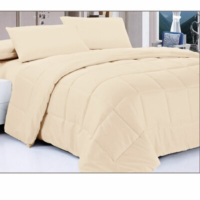 Down Alternative Comforter Color: Ivory, Size: Full/Queen
