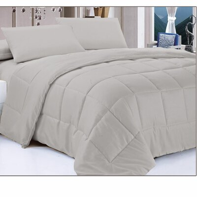 Down Alternative Comforter Color: Gray, Size: Full/Queen