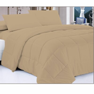 Down Alternative Comforter Size: Twin, Color: White Pepper