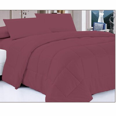 Down Alternative Comforter Size: Twin, Color: Brick
