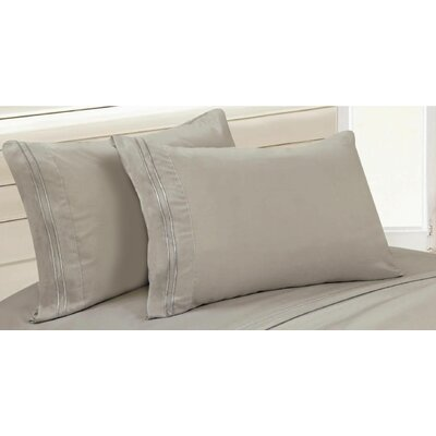 Chateau Sheet Set Size: King, Color: Gray