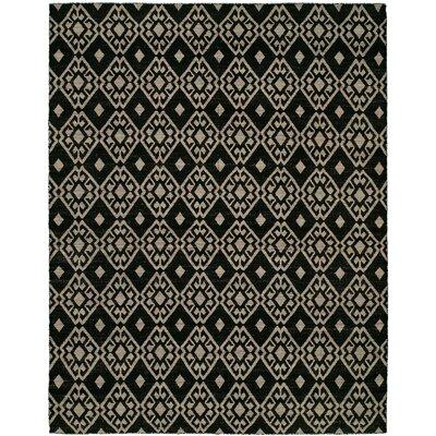 Folsom Handmade Black/Lilac Area Rug Rug Size: 5 x 8