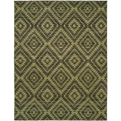 Ford Handmade Camel/Green Area Rug Rug Size: 5 x 8