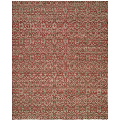 Nebraska Handmade Rose/Light Blue Area Rug Rug Size: 9 x 12