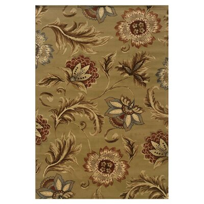 Harper Tan/Gold Area Rug Rug Size: Rectangle 53 x 73