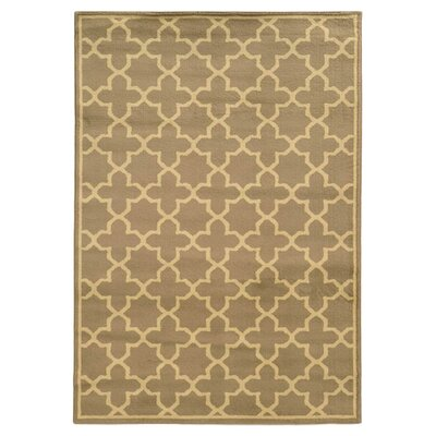 Aldan Tan/Beige Area Rug Rug Size: Rectangle 1'10