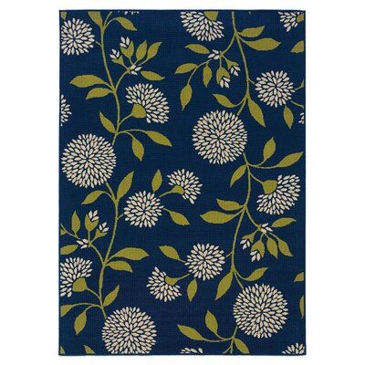Lenoir Blue/Green Indoor/Outdoor Area Rug Rug Size: Rectangle 37 x 56