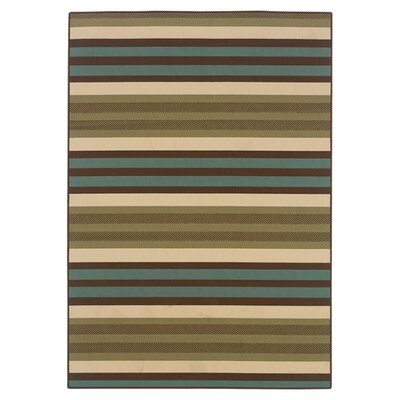Brendel Green/Blue Indoor/Outdoor Area Rug Rug Size: Rectangle 37 x 56