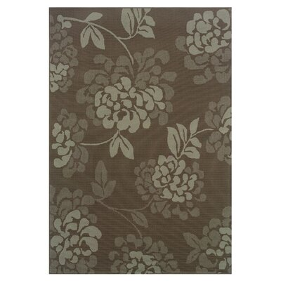 Milltown Gray/Blue Indoor/Outdoor Area Rug Rug Size: 37 x 56