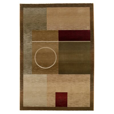 Birkenfeld Green Area Rug Rug Size: Rectangle 23 x 45