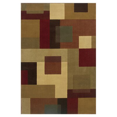 Garmon Red/Tan Area Rug Rug Size: 910 x 129