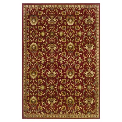 Abell Red/Ivory Area Rug Rug Size: Rectangle 32 x 57