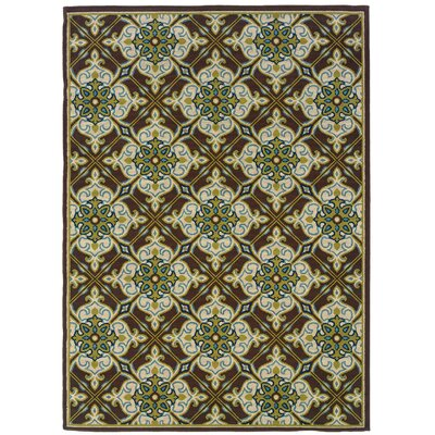 Newfield Brown/Ivory Indoor/Outdoor Area Rug Rug Size: Rectangle 53 x 76