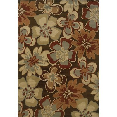 Harper Brown/Gold Area Rug Rug Size: Rectangle 53 x 73