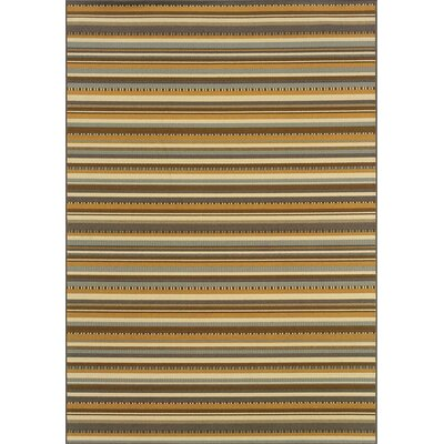 Milltown Grey/Gold Indoor/Outdoor Area Rug Rug Size: Rectangle 5'3