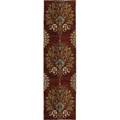 Katie Red Area Rug Rug Size: Runner 23 x 8