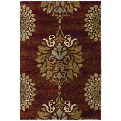 Katie Red Area Rug Rug Size: 53 x 76
