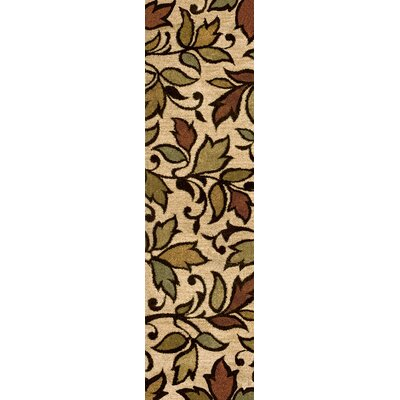 Vine Getty Bisque Beige/Brown Area Rug Rug Size: Runner 23 x 8