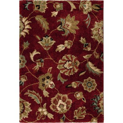 Landyn Rouge London Red Area Rug Rug Size: 53 x 76