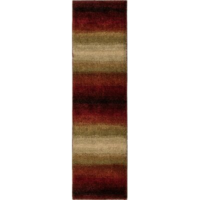 Connection Lava Skyline Red/Brown Area Rug Rug Size: Runner 23 x 8