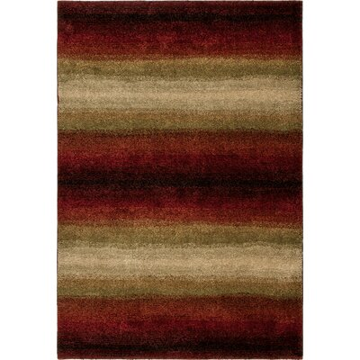 Connection Lava Skyline Red/Brown Area Rug Rug Size: 311 x 55