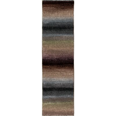 Connection Rainbow Skyline Purple/Gray Area Rug Rug Size: Runner 23 x 8