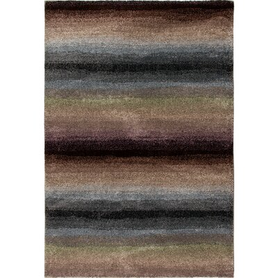 Connection Rainbow Skyline Purple/Gray Area Rug Rug Size: 53 x 76