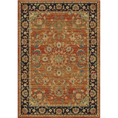 Twisted Tradition Brick/Red Area Rug Rug Size: 710 x 1010