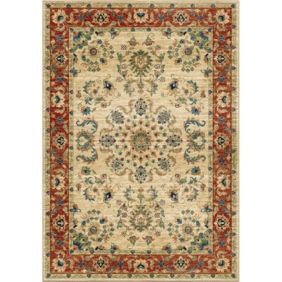 Twisted Tradition Bone/Ivory Area Rug Rug Size: 53 x 76