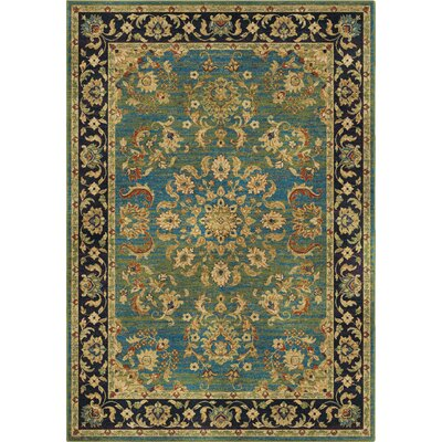 Twisted Tradition Aqua/Green Area Rug Rug Size: 7'10