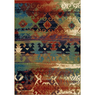 Southwest Dreamcatcher Red/Green Area Rug Rug Size: 53 x 76