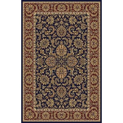 Irrigon Navy/Red Area Rug Rug Size: 910 x 1210