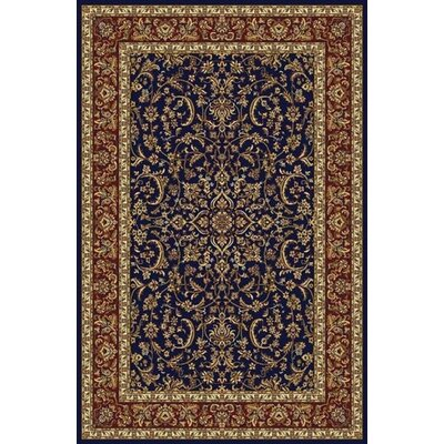 Jennings Navy/Red Area Rug Rug Size: 33 x 54