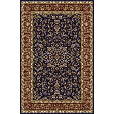 Jennings Navy/Red Area Rug Rug Size: 910 x 1210