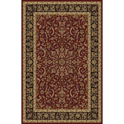 Jewell Burgundy Area Rug Rug Size: 55 x 83