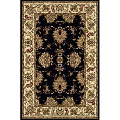 Jordan Black Area Rug Rug Size: 910 x 1210