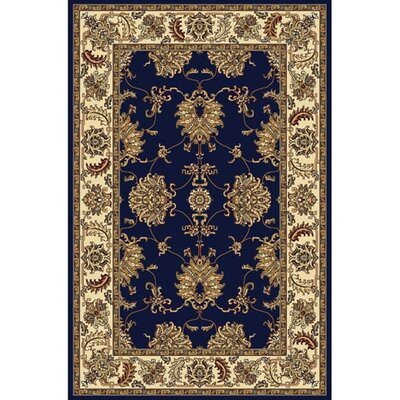 Jefferson Navy Area Rug Rug Size: 33 x 54