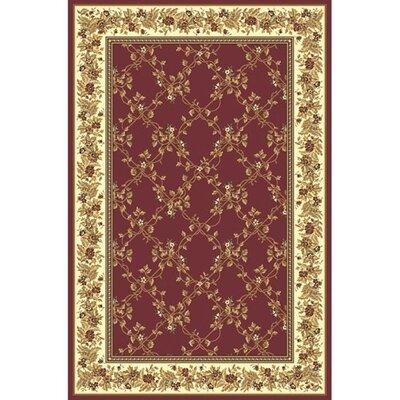 Kellogg Burgundy Area Rug Rug Size: 79 x 96
