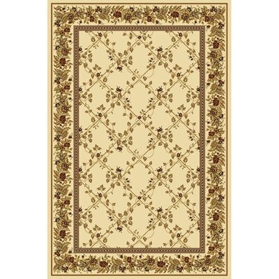 Kelso Ivory Area Rug Rug Size: 55 x 83