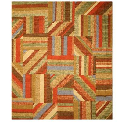 Kent Hand-Woven Kilim Area Rug Rug Size: 8 x 10